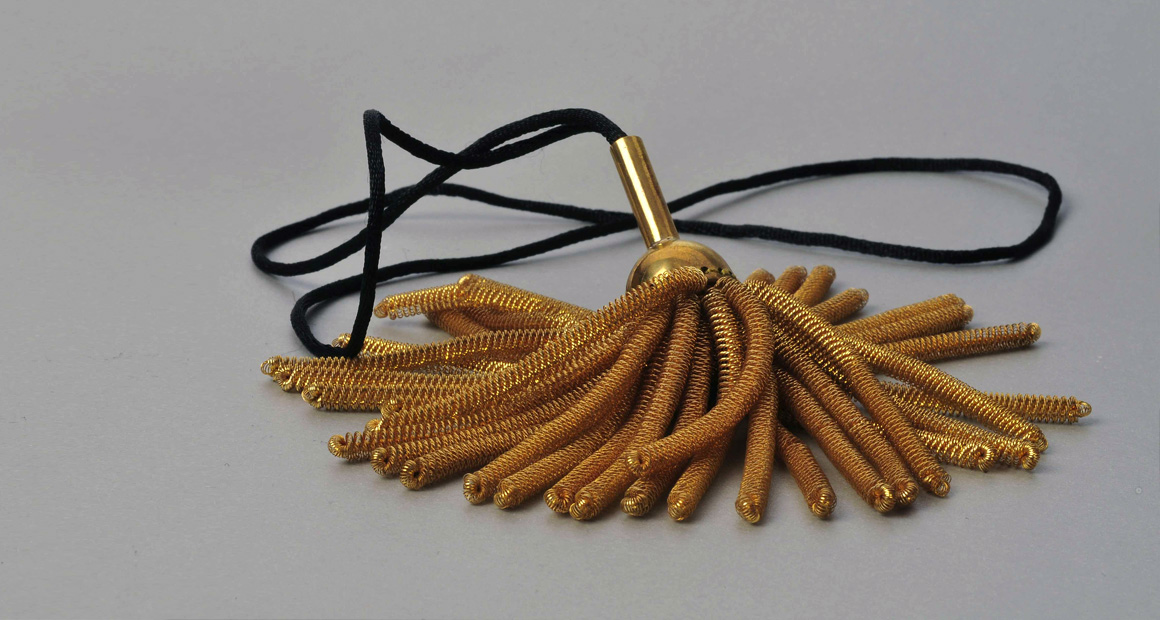Military golden piece necklace